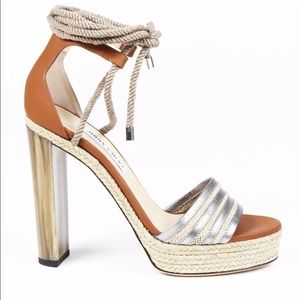 Jimmy Choo Shoes - Jimmy Cho Mayje 130 Rope Tie Sandals SZ 37